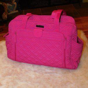 Vera Bradley Fuchsia Make a Change Baby Bag